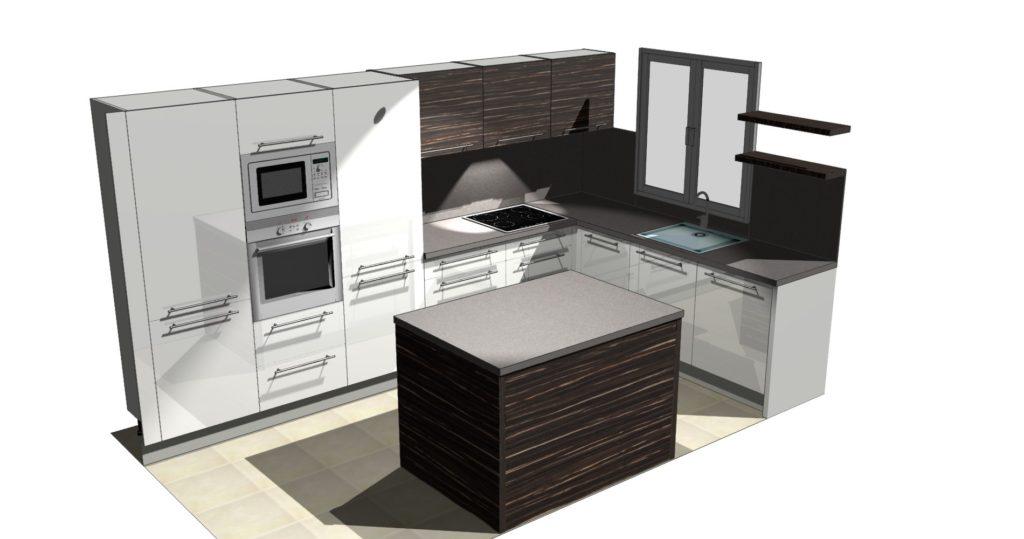 Grafický návrh kuchyně